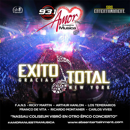 EXITO TOTAL Amor A Nuestra Musica 2013