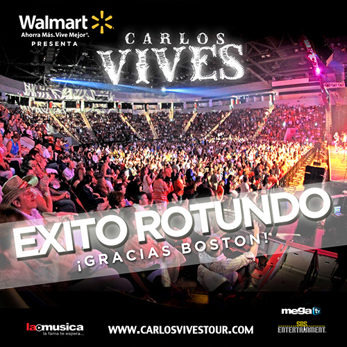 EXITO TOTAL Carlos Vives Boston 2013