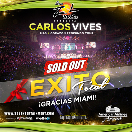 EXITO TOTAL Carlos Vives Miami 2014