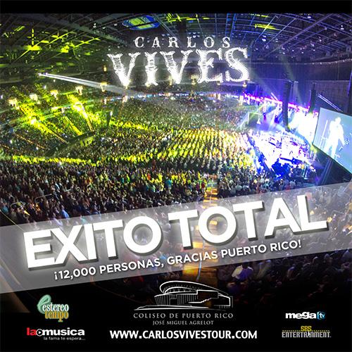 EXITO TOTAL Carlos Vives Puerto Rico 2013