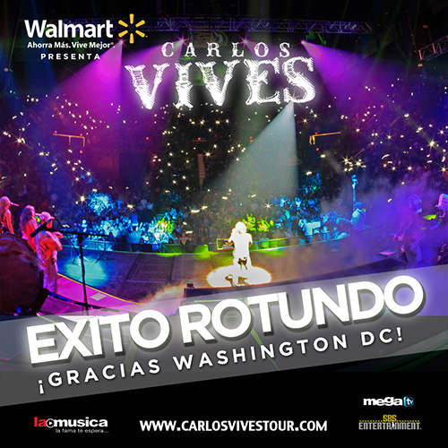 EXITO TOTAL Carlos Vives Washington DC 2013