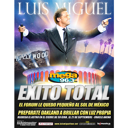 EXITO TOTAL Luis Miguel Los Angeles 2014