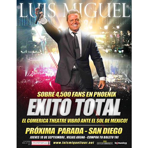 EXITO TOTAL Luis Miguel Phoenix 2014