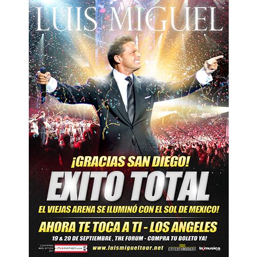 EXITO TOTAL Luis Miguel San Diego 2014