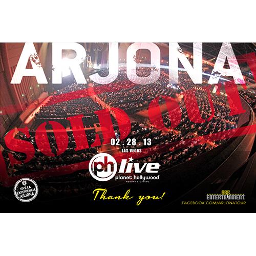 EXITO TOTAL Ricardo Arjona Las Vegas 2013